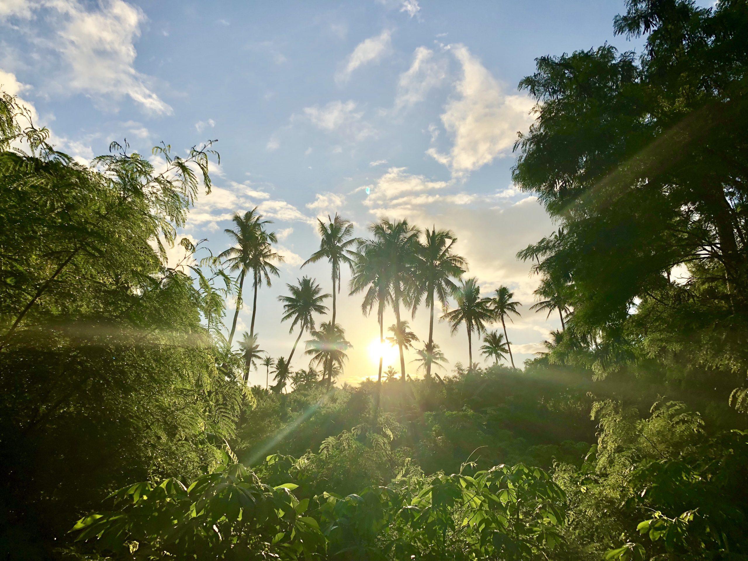 Yasawa Island Fiji at sunrise