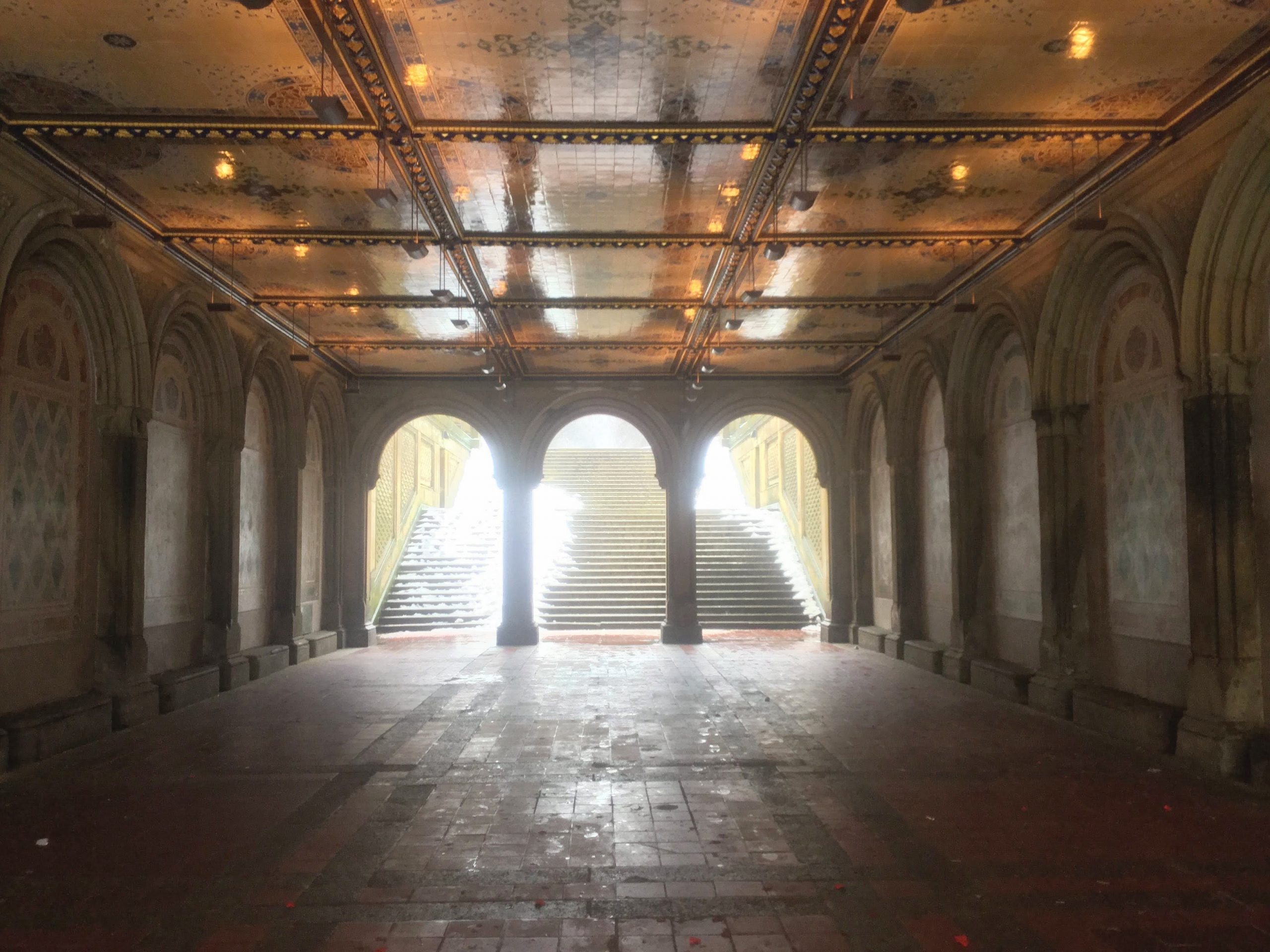 Bethesda Terrace in the snow