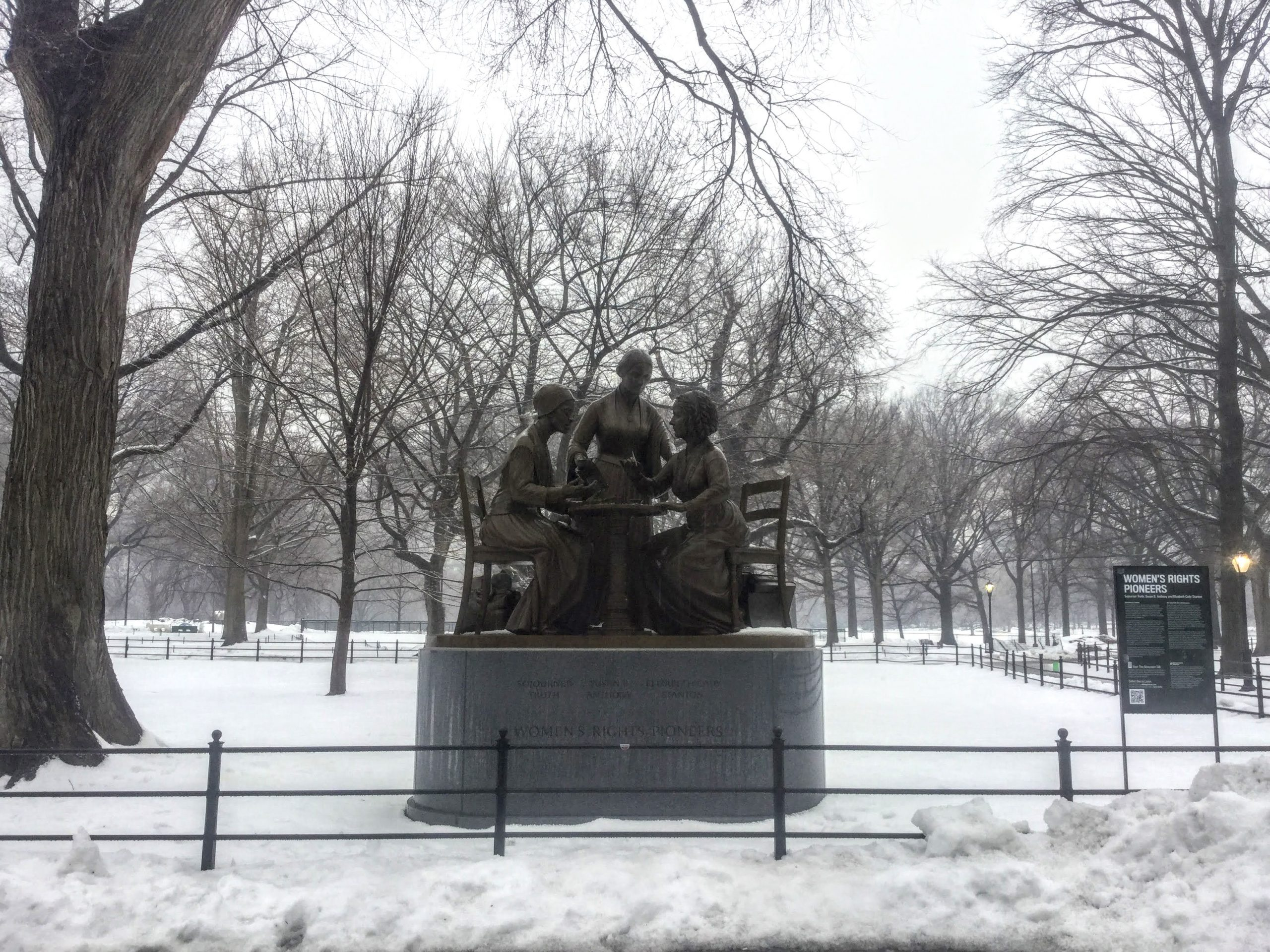 Women's Rights Pioneers statue