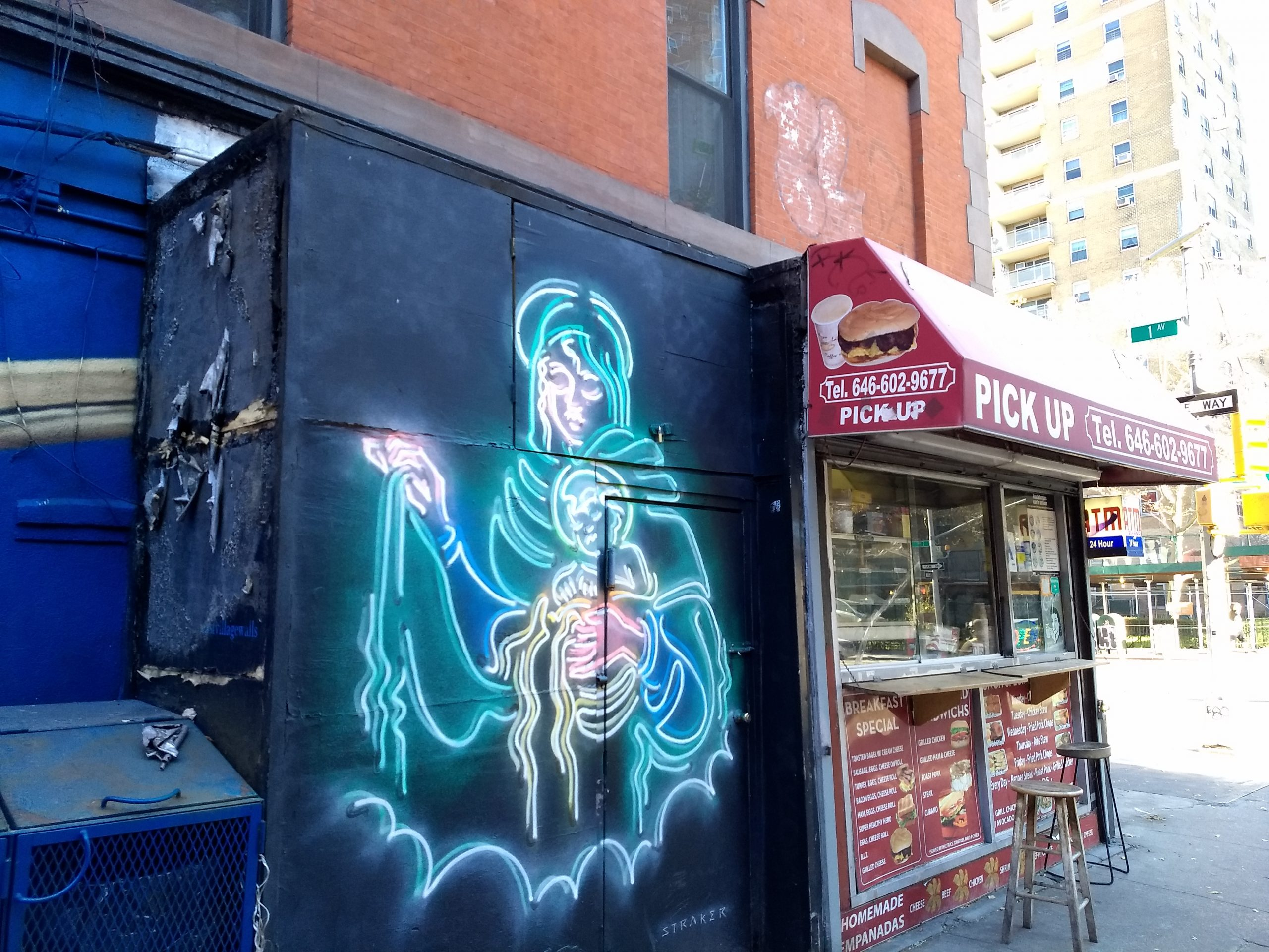 Virgin Mary Street Art