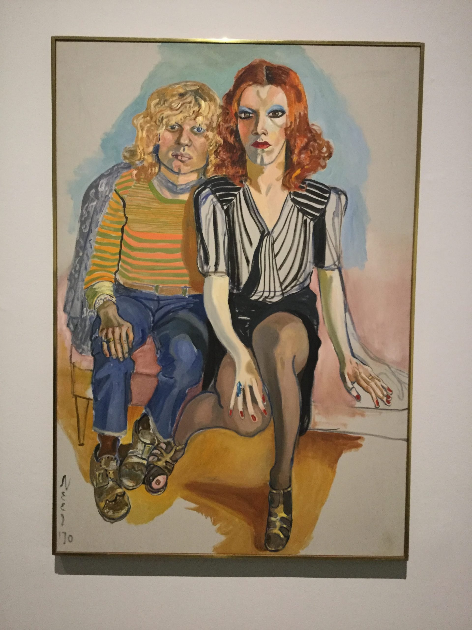 """""""Jackie Curtis and Ritta Redd"""" by Alice Neel"""