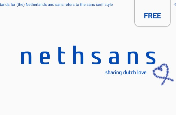 Nethsans Typeface – Entirely Free Font