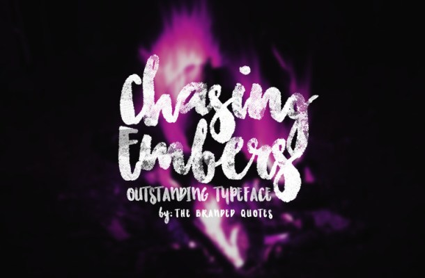Chasing Embers Typeface Font