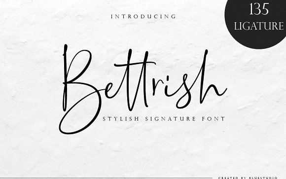 Bettrish Handwriting Font