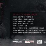 Konzertvorschau Unzucht Clubtour