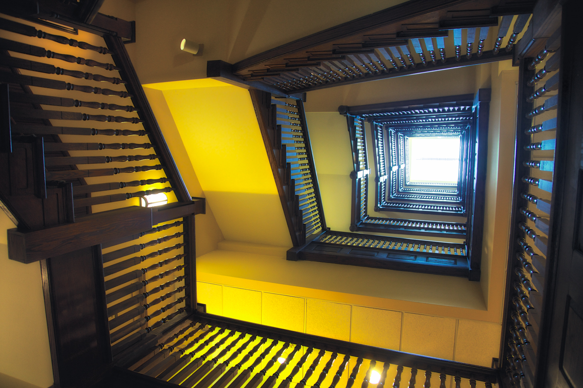 Stairway in Nashville's Haunted Union Station Hotel