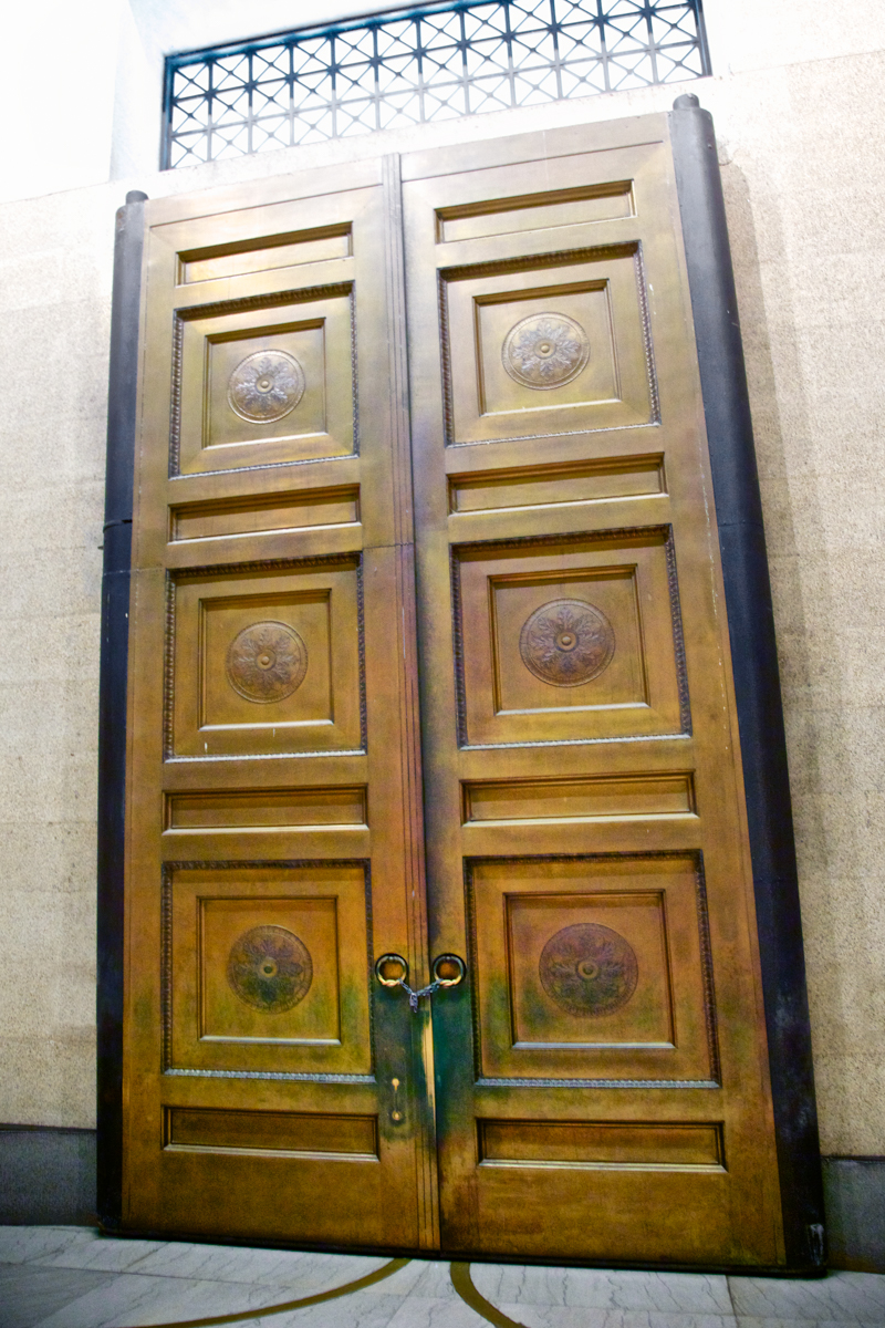 Bronze doors in the Nashville Parthenon