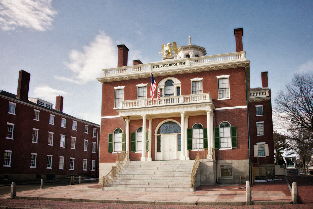 The Customs House, c. 1819, part of the Salem Maritime National Historic Site, is a remnant of the days when Salem's shipping industry stretched to the Orient and back, making Salem one of the most important ports in the early United States