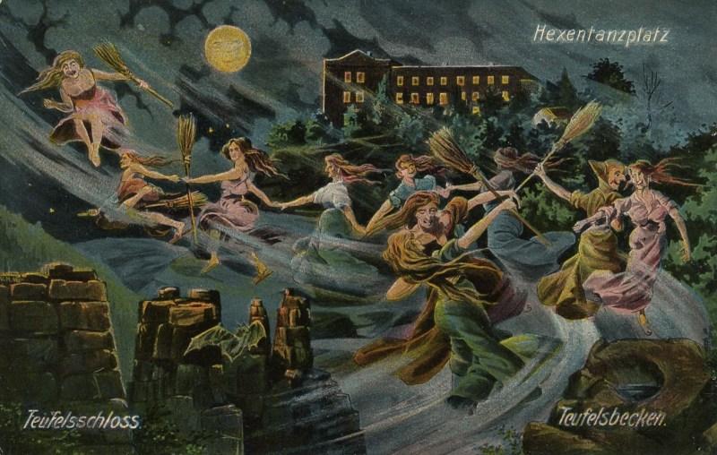 Walpurgis Witches Postcard