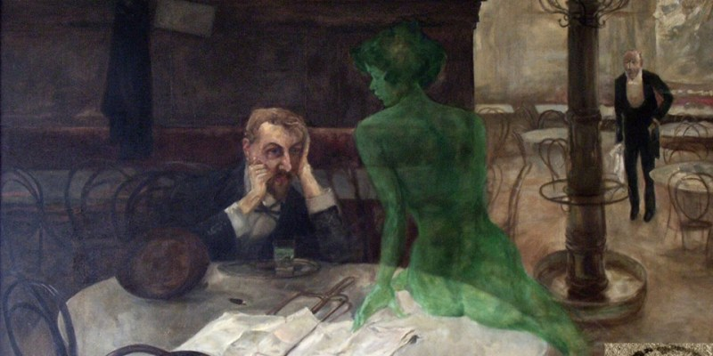The Absinthe Drinker by Viktor Oliva