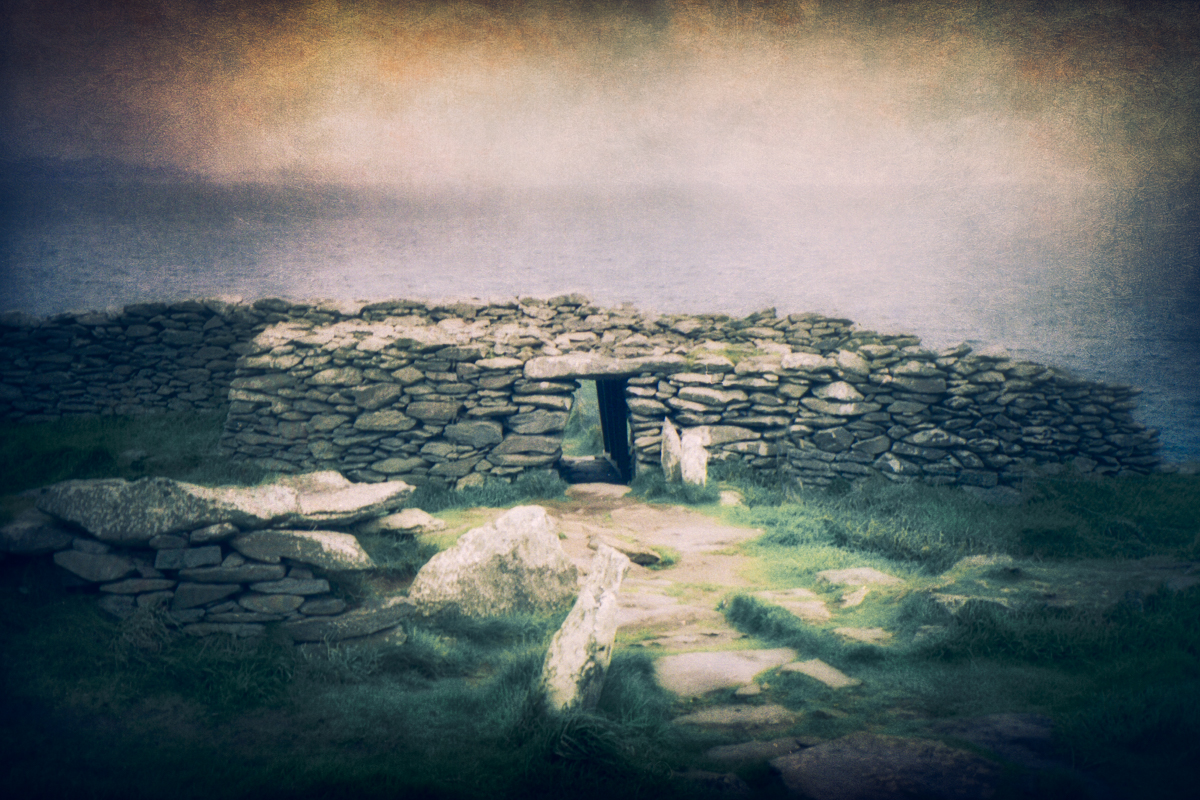 View of Dunbeg fort looking towards the Atlantic