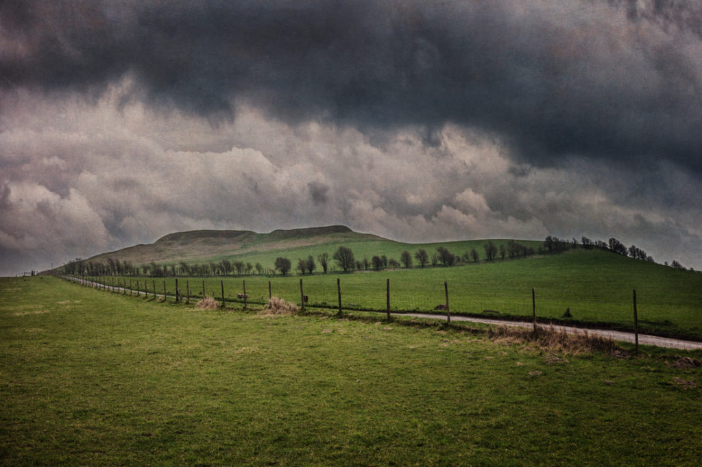 Uffington Castle Iron Age Hillfort, White Horse Hill, home of the Uffington White Horse, Ashbury, Oxfordshire