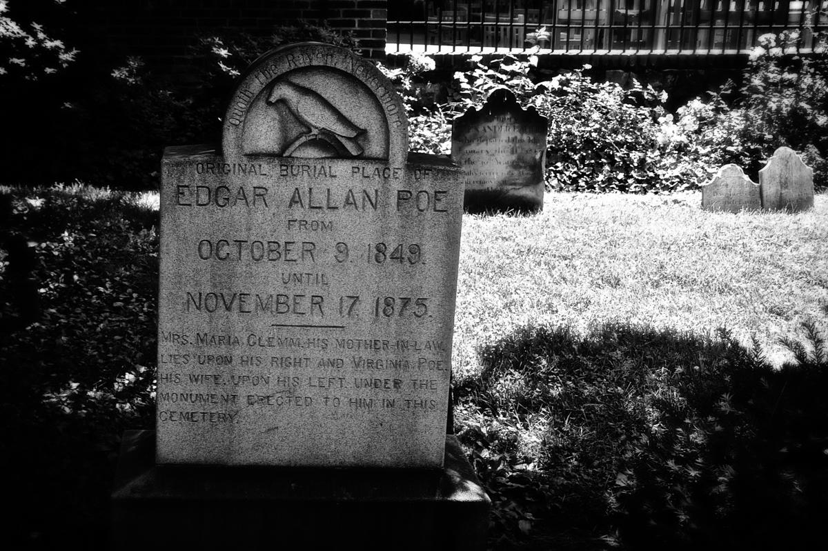 Poe's original grave