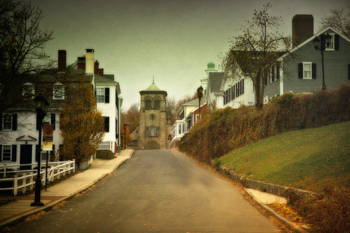 Leyden street in haunted Plymouth