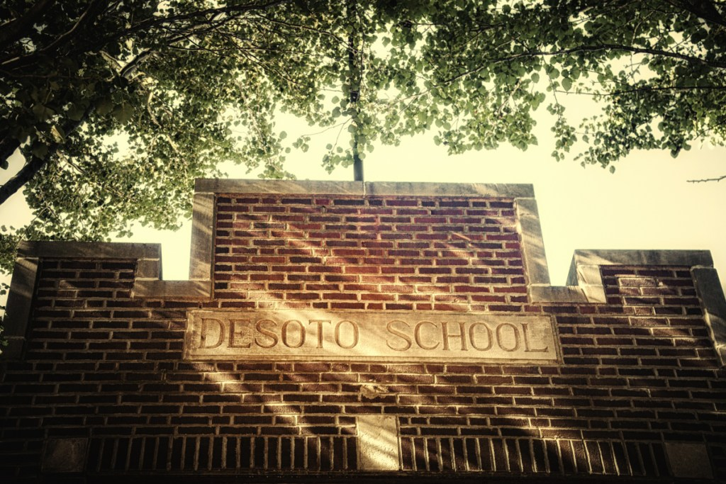 The DeSoto School, destroyed by the Tri-State Tornado of 1925