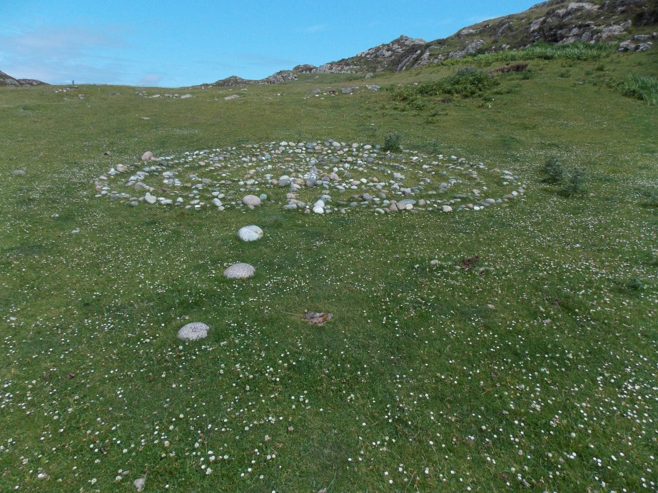 A labyrinth of stones on Iona.