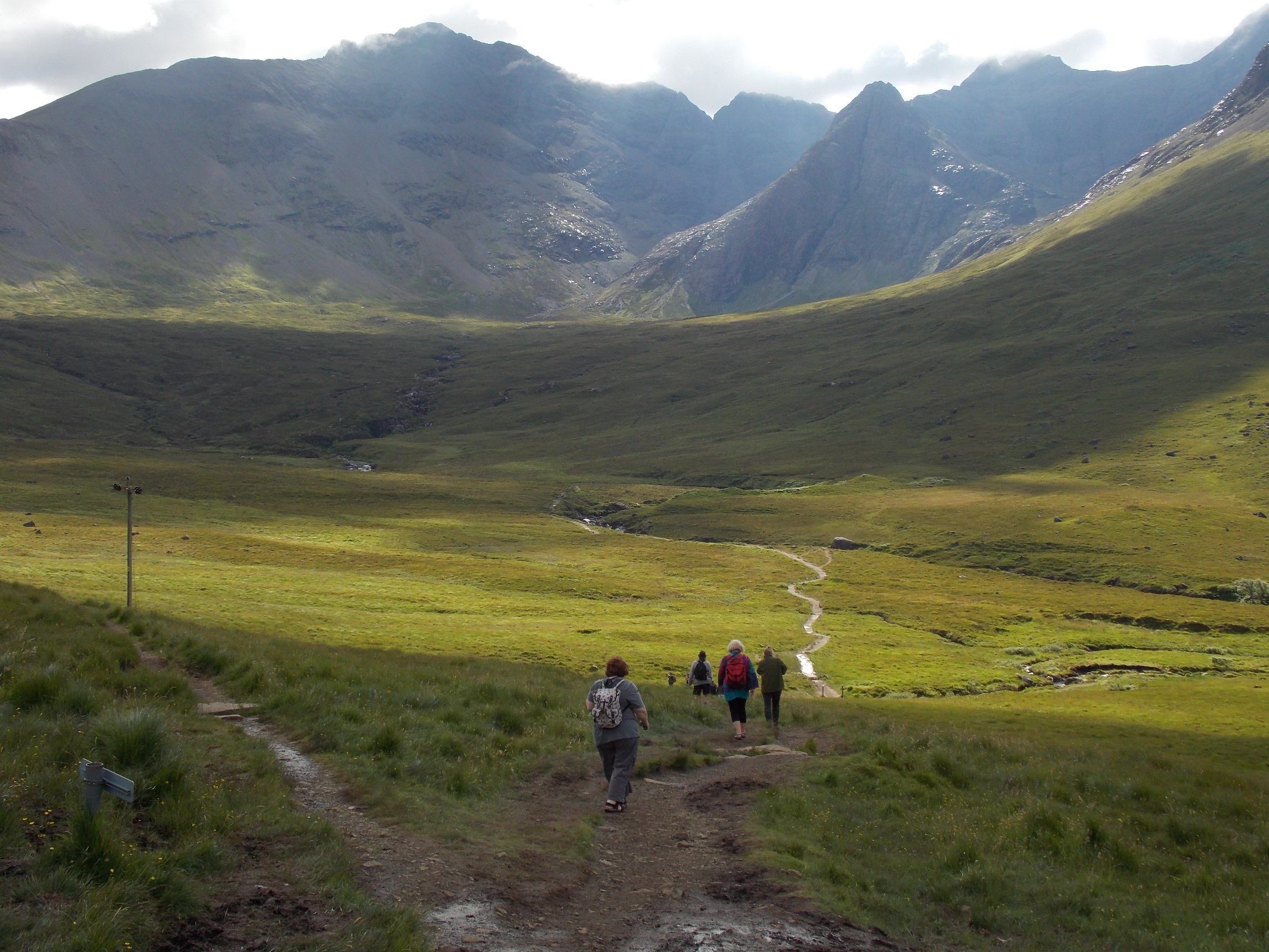 Walking to the fairy pools on the Isle of Skye