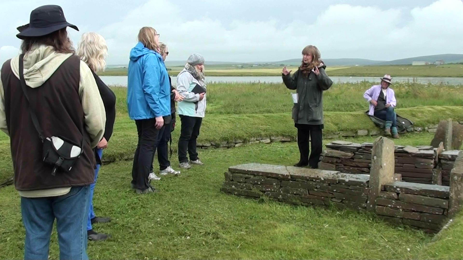 With local guides on Orkney.