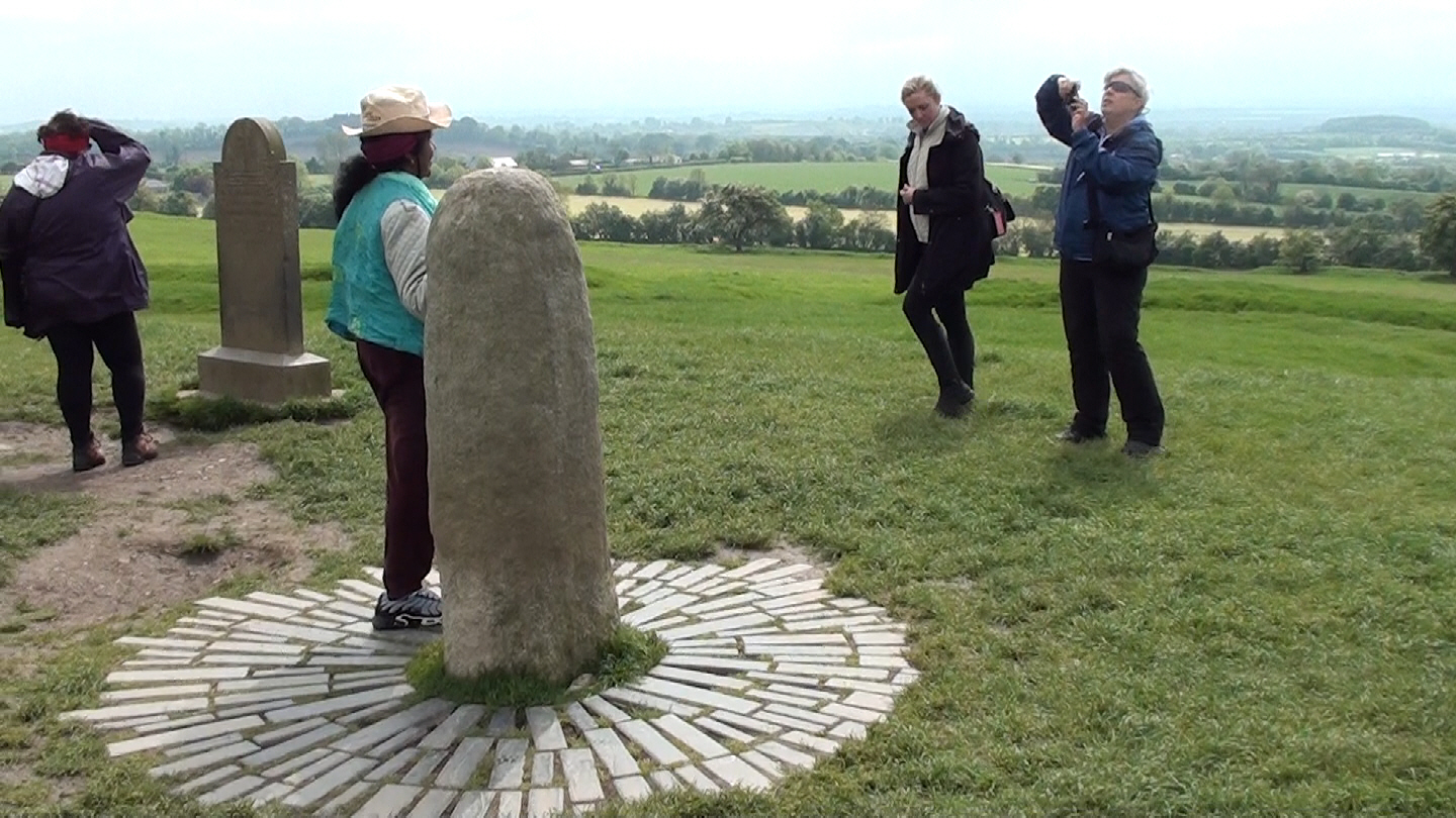 The Lia Fail on the hill of Tara