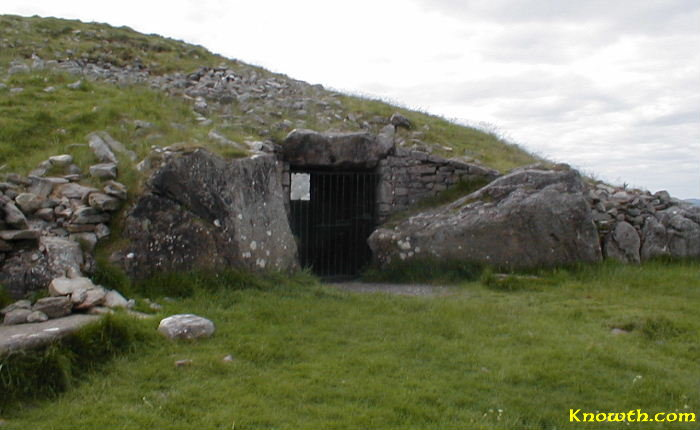 Cairn T passage tomb in the Lough Crew mountains