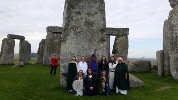 A highlight of the Merlin's Britain tour is an early morning Druid ceremony inside the circle at Stonehenge.