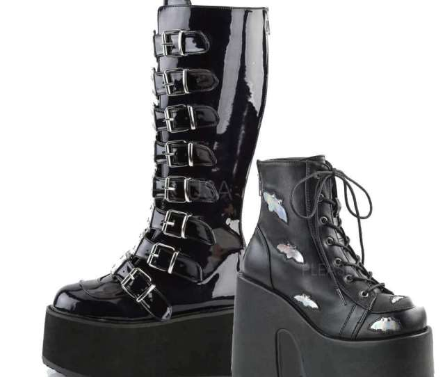 Demonia Gothic Boots Shoes