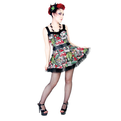 Vestido corto pin up