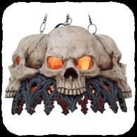 Plafonnier Gothique Crânes Soldes