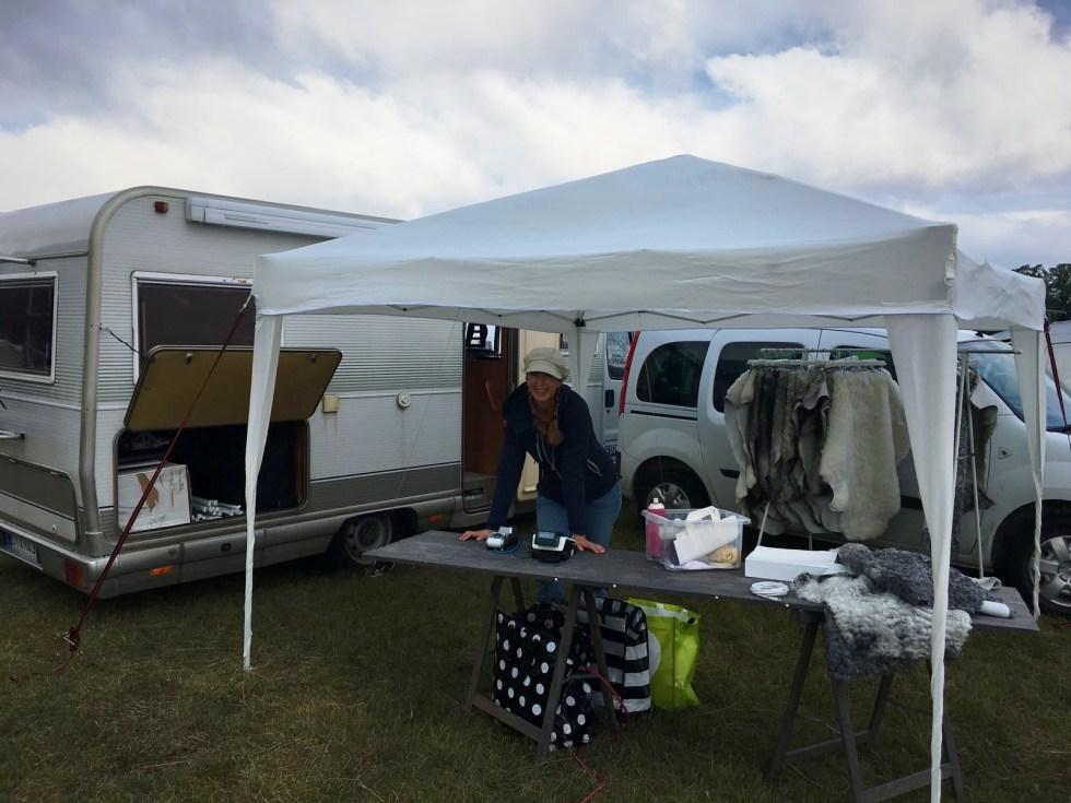 Gotlamm säljer lammskinn och fårskinn på Gotland Dog Show