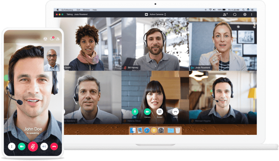 GoToMeeting Group meeting on desktop and smartphone app