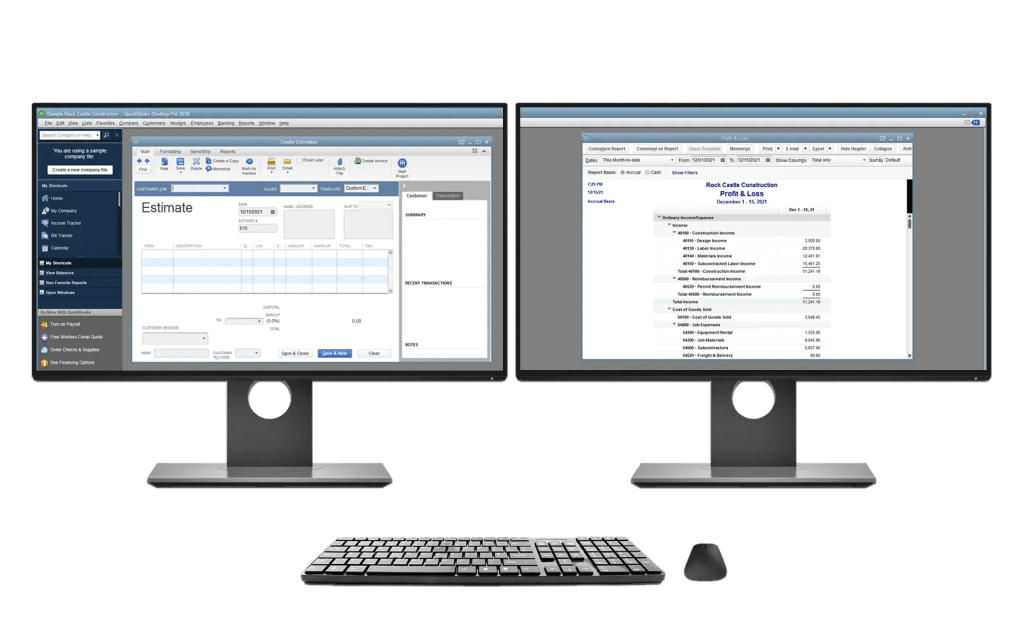 QuickBooks Hosting with gotomyerp supports dual monitors