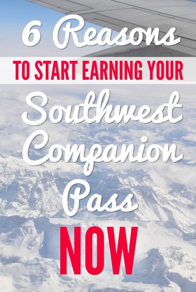 6 Reasons to Start Earning the Southwest Companion Pass NOW via @GotoTravelGal - Did you know you can fly FREE all year?
