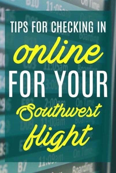 Southwest Check In Tips via @GotoTravelGal