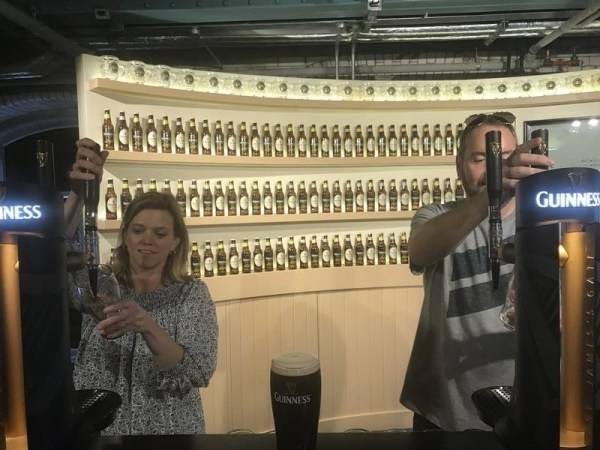 Pouring a Pint at Guinness Storehouse Dublin small