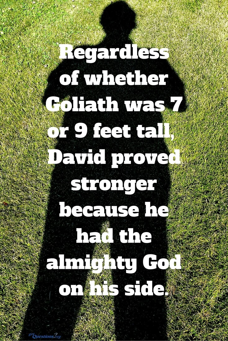 How Tall Was Goliath