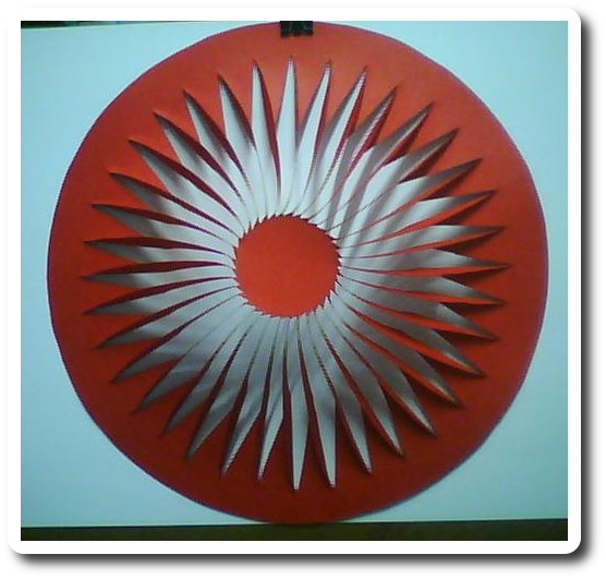 Photo of the kirigami that inspired the new solar cell courtesy of Lamoureux A et al.