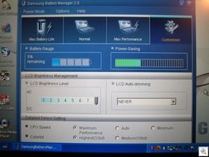 Samsung Q1B custom power setting