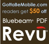 Bluebeam PDF Revu GottaBeMobile Tablet PC PDF