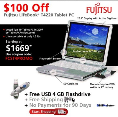 Fujitsu LifeBook T4220
