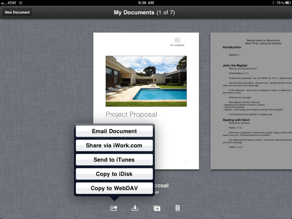 How To Save iPad Pages Files to DropBox Using DropDAV
