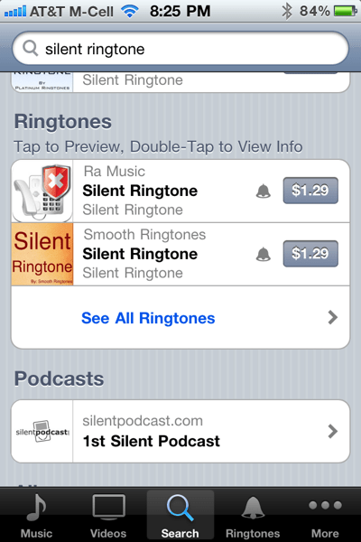 silent ringtone
