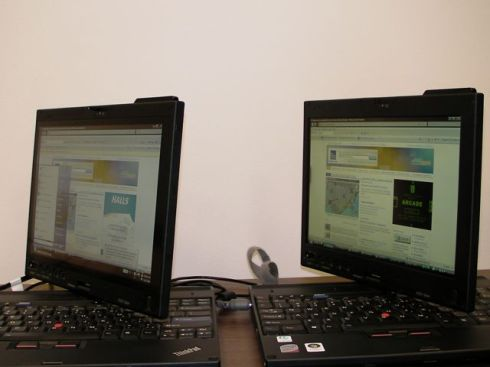 X200 Tablet on left, X200 Tablet with Touch on right