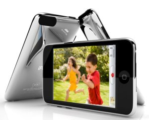 """artist's"" rendition of iPod touch with video recording"