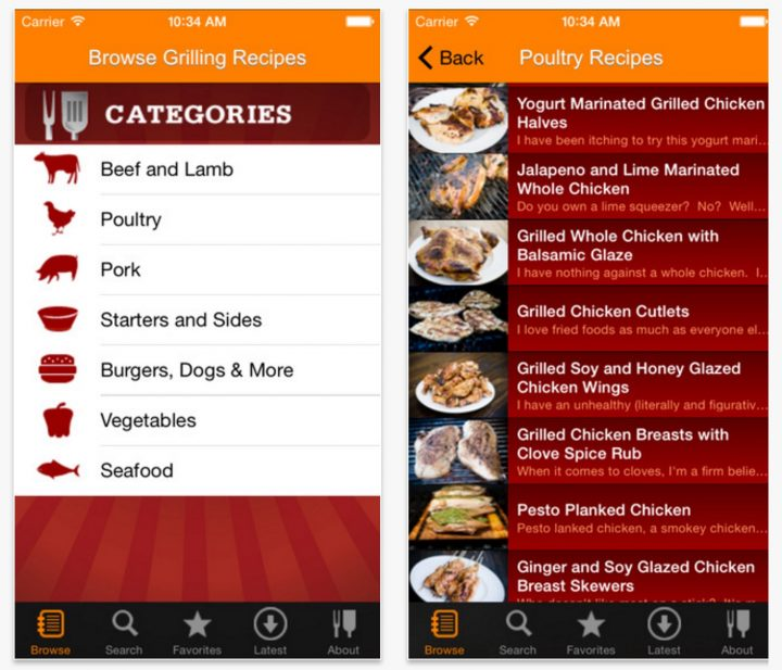 Best Grilling apps iPhone Android - 2