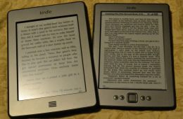 The two e-ink Kindles