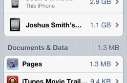 iCloud Storage iPhone and ipad