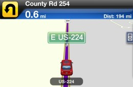Sample map from GPS by Telenav for iPhone