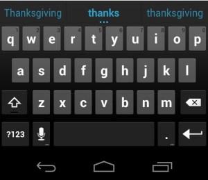 Keyboard - Ice Cream Sandwich Android 4.0