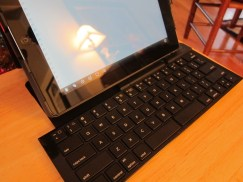 Logitech Fold-Up Keyboard Case for iPad 2 Fully Opened