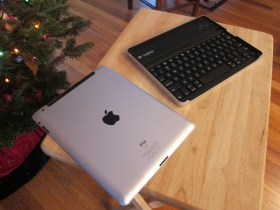 Logitech Keyboard Case side by side with iPad 2